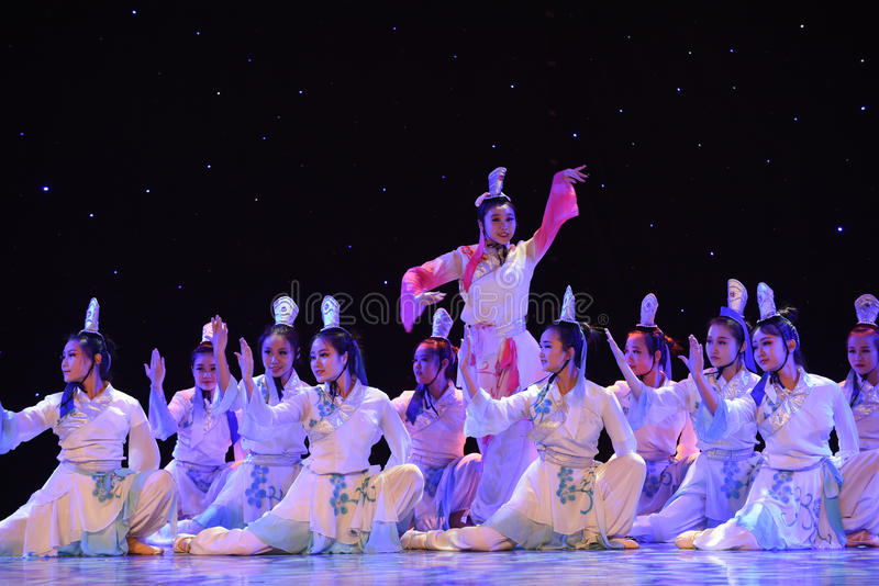 The story of the Academy-Liang Shanbo and Zhu Yingtai-Romeo and Juliet in China. June 10, 2015, the Jiangxi Vocational Academy of Art dance show performance stock photos
