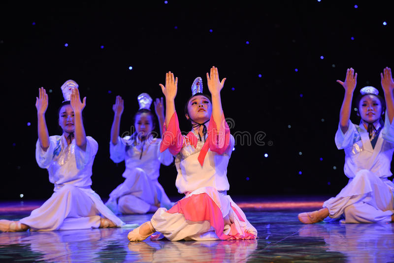The story of the Academy-Liang Shanbo and Zhu Yingtai-Romeo and Juliet in China. June 10, 2015, the Jiangxi Vocational Academy of Art dance show performance stock photo