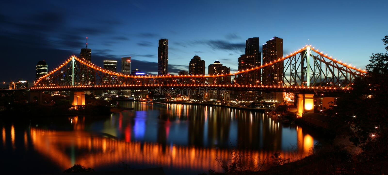 Story Bridge. The Story Bridge is an iconic symbol of Brisbane, the third largest capital city of Australia royalty free stock photo