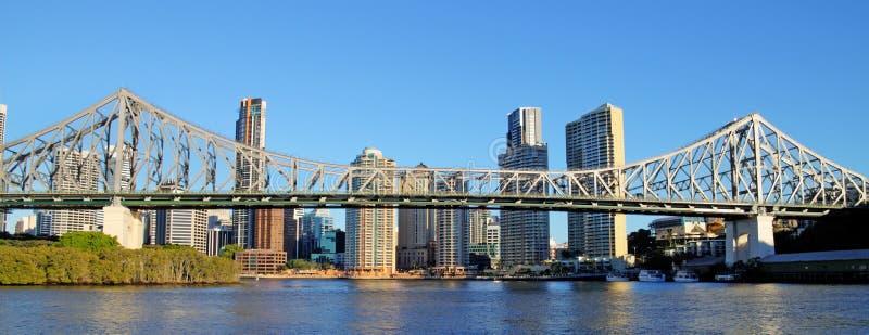 Story Bridge Brisbane Australia. The iconic Story Bridge spanning the Brisbane River in Brisbane Australia at sunrise royalty free stock photos