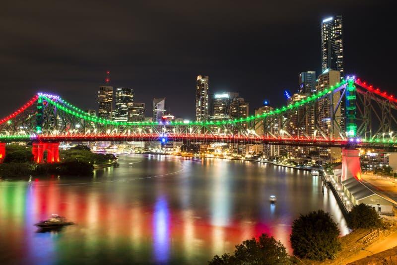 Story Bridge in Brisbane. The iconic Story Bridge in Brisbane, Queensland, Australia royalty free stock photo