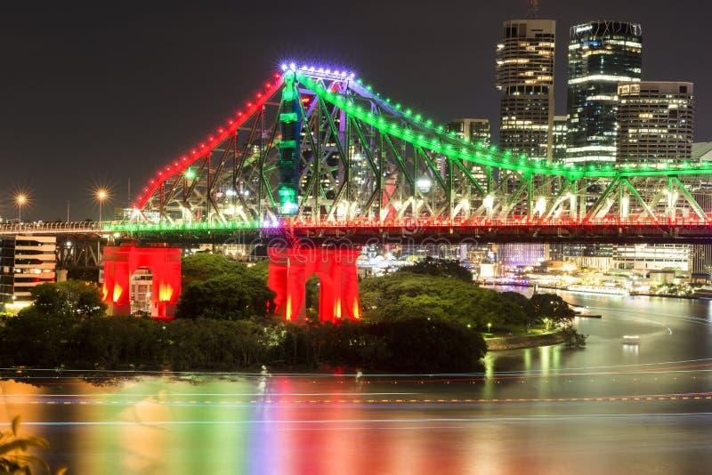 Story Bridge in Brisbane. The iconic Story Bridge in Brisbane, Queensland, Australia stock photo