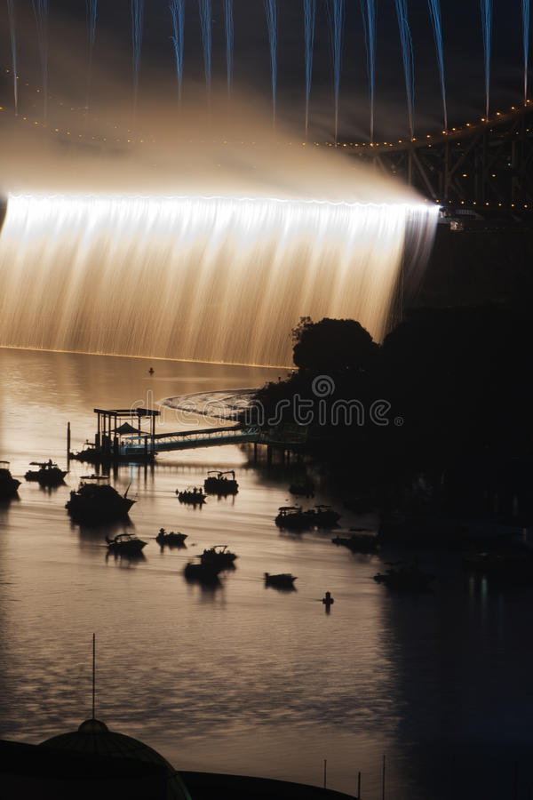 Story Bridge Fireworks, Brisbane stock image