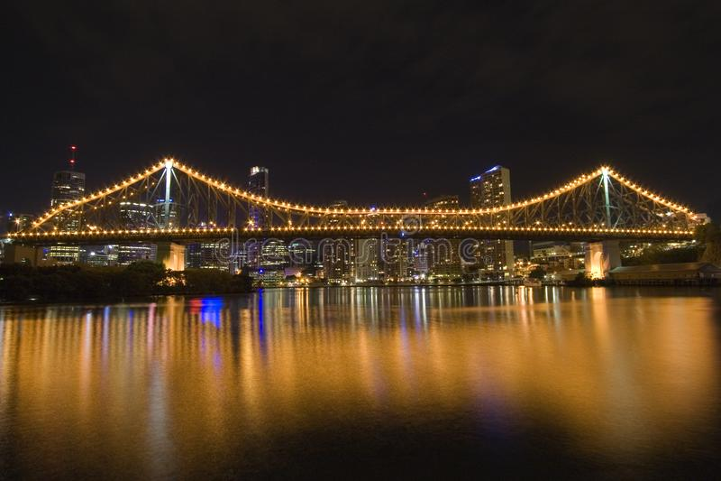 Story Bridge By Night From Side 2 Free Stock Photos