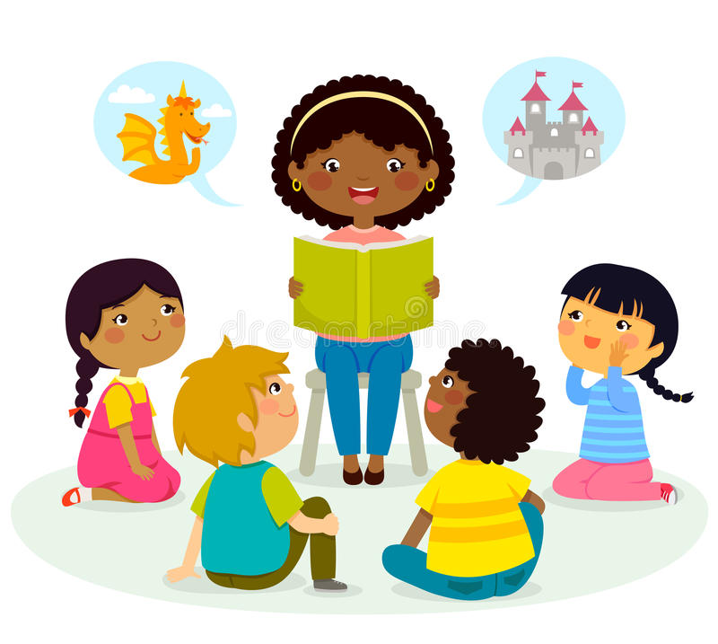 Free Story Time – Multicultural Group Royalty Free Stock Image - 84807966