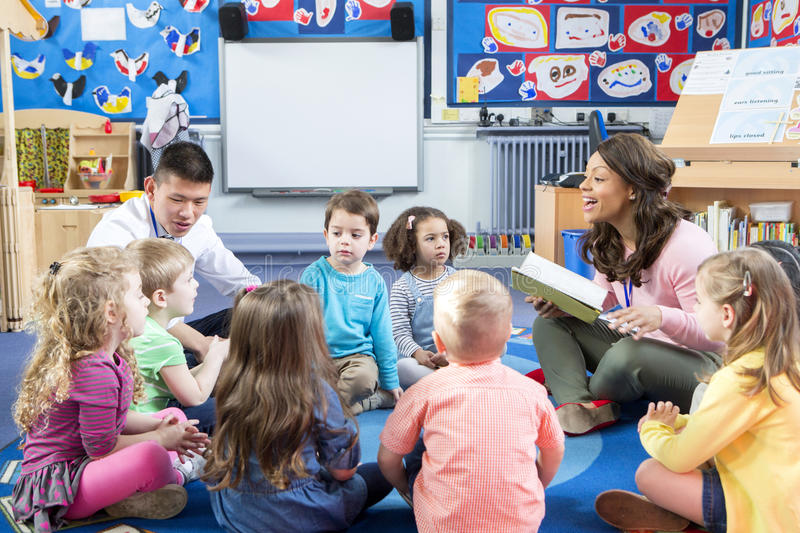 Story Time at Nursery royalty free stock photos
