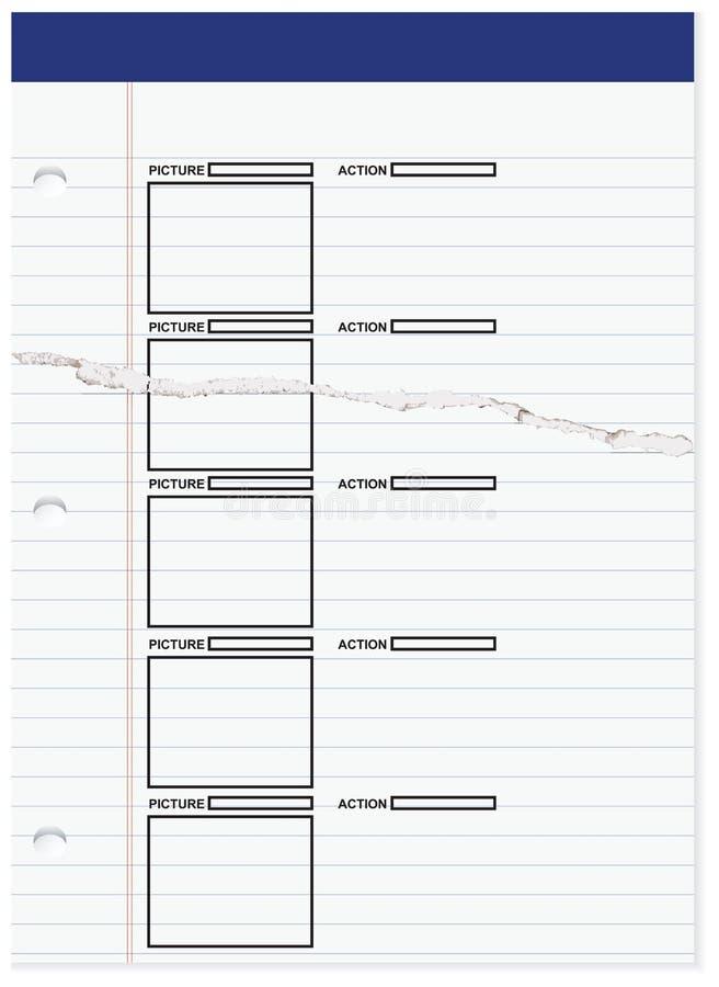 Download Storyboard πρίν γυρίζει την ταινία Διανυσματική απεικόνιση - εικονογραφία από έγγραφο, over: 62715321