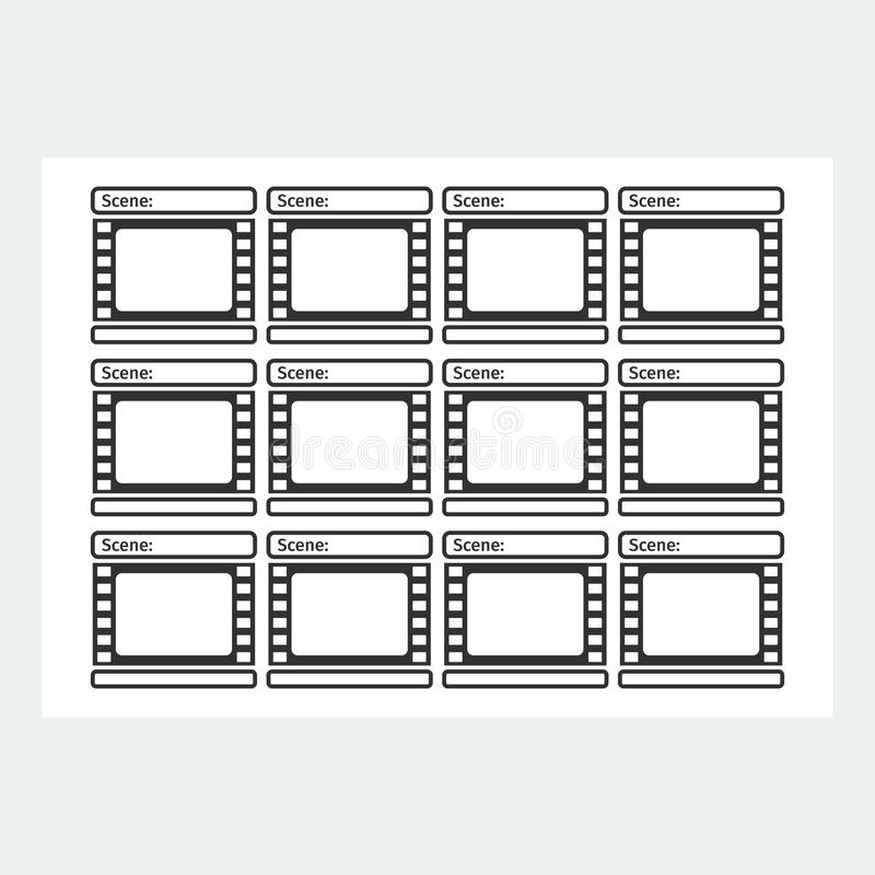storyboard template reel stock vector illustration of illustration