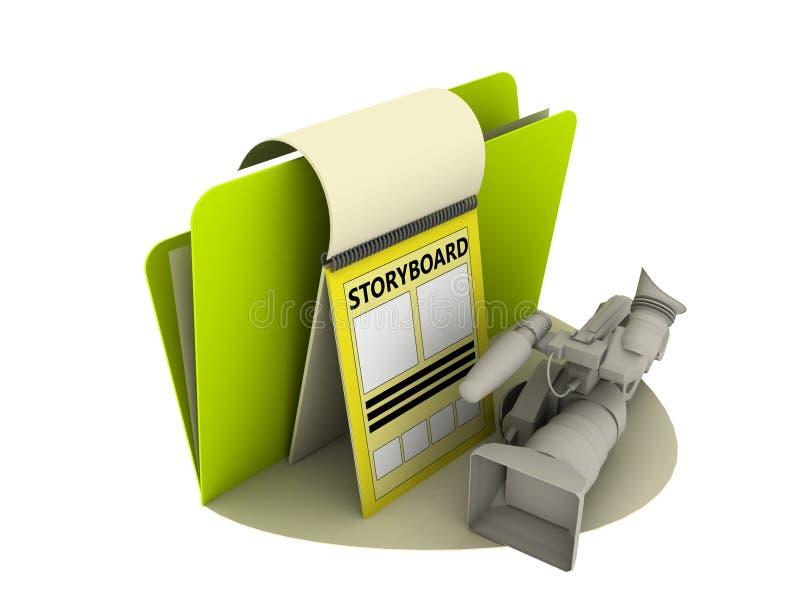 Storyboardikone vektor abbildung