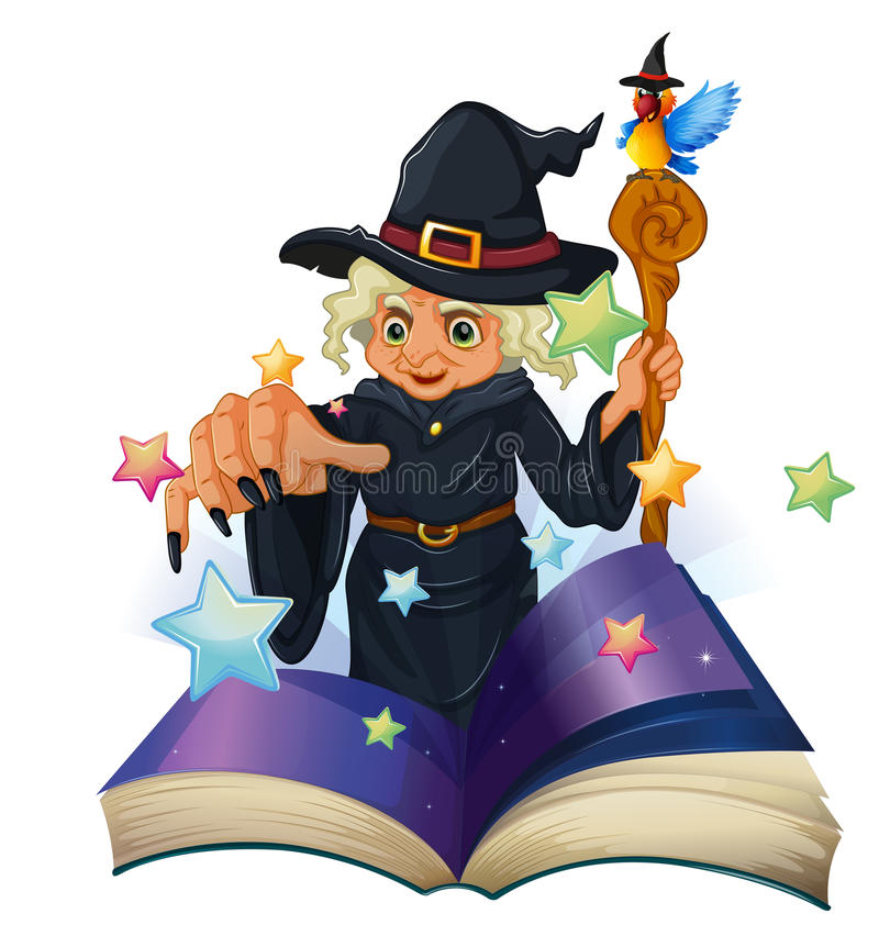 A Storybook About A Black Witch Royalty Free Stock Photos