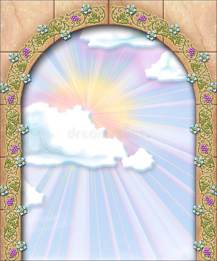 Storybook window vector illustration