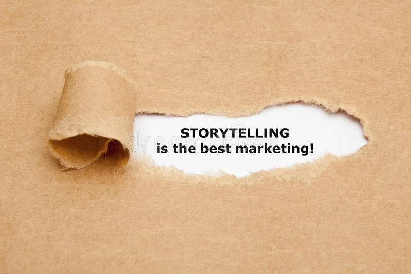 Storytelling is de Beste Marketing royalty-vrije stock afbeelding