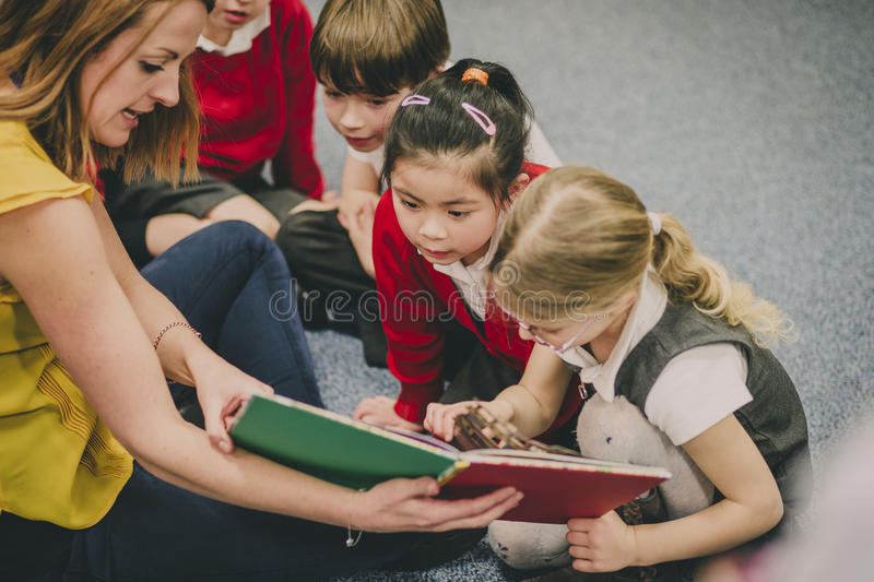 Storytime In The Classroom stock photos