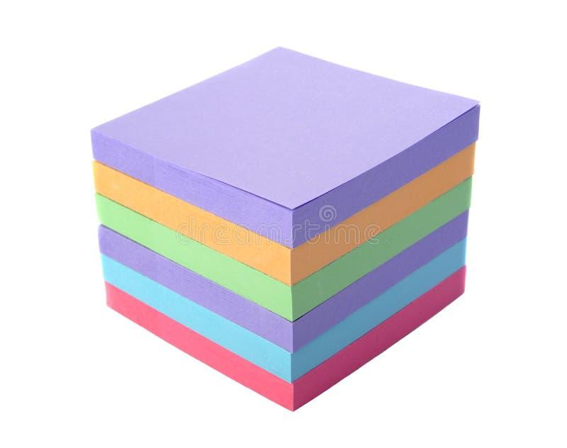 Stos barwiący papierowy majcher zdjęcie stock