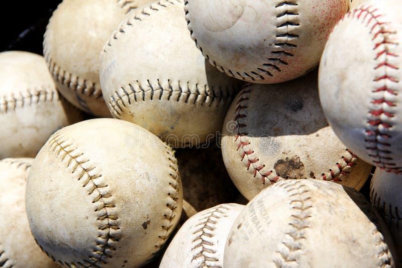 Stos baseballe obraz stock