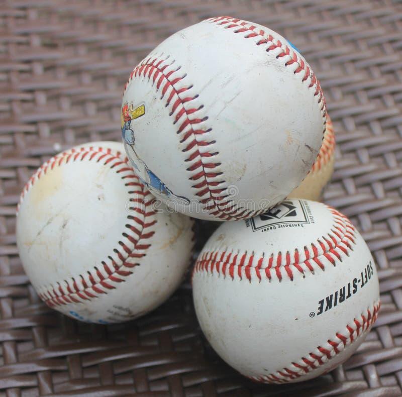 Stos baseballe fotografia stock