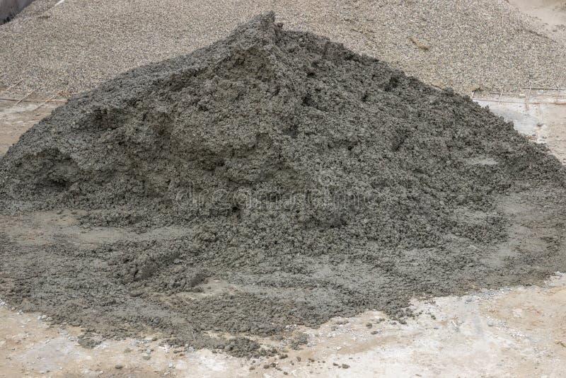 Stos beton dla dachówkowego brukowania obraz stock