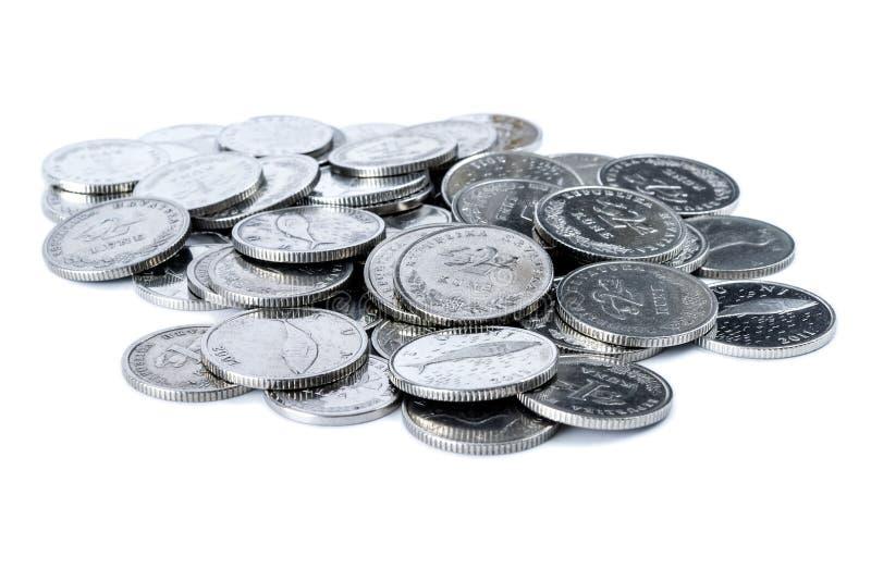 Download Stos Chorwackie monety obraz stock. Obraz złożonej z wschodni - 28952105