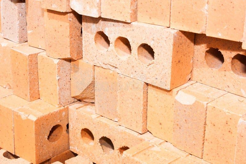 Stos Czerwone Cegły Zdjęcie Stock