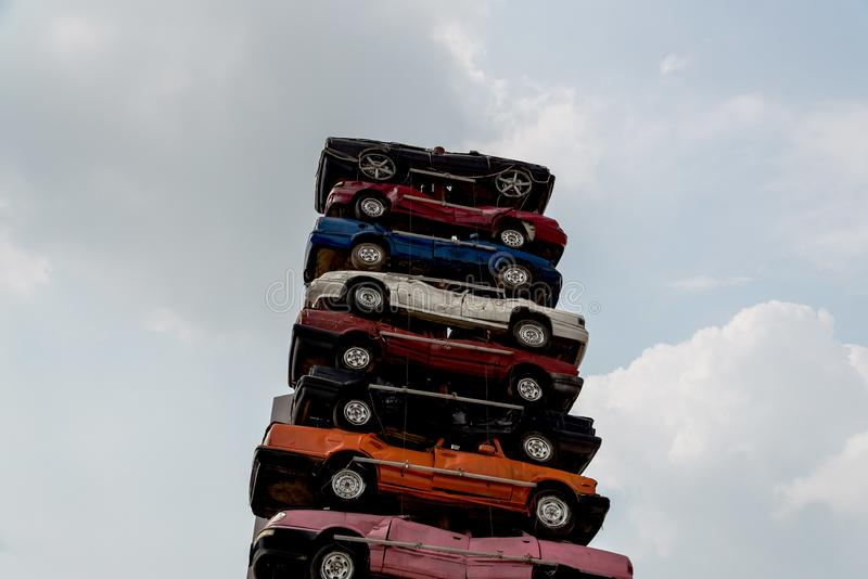 Stos dżonka samochody obrazy royalty free