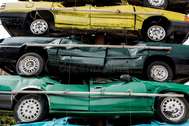 Stos dżonka samochody zdjęcia stock
