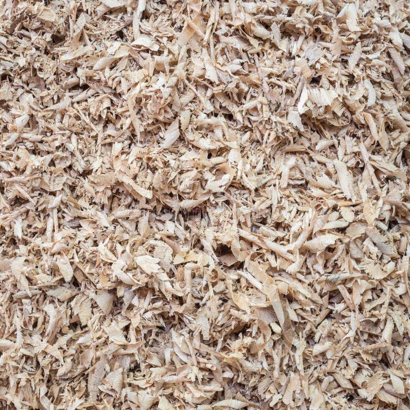 Stos drewniany trociny dla tła, tekstura fotografia stock