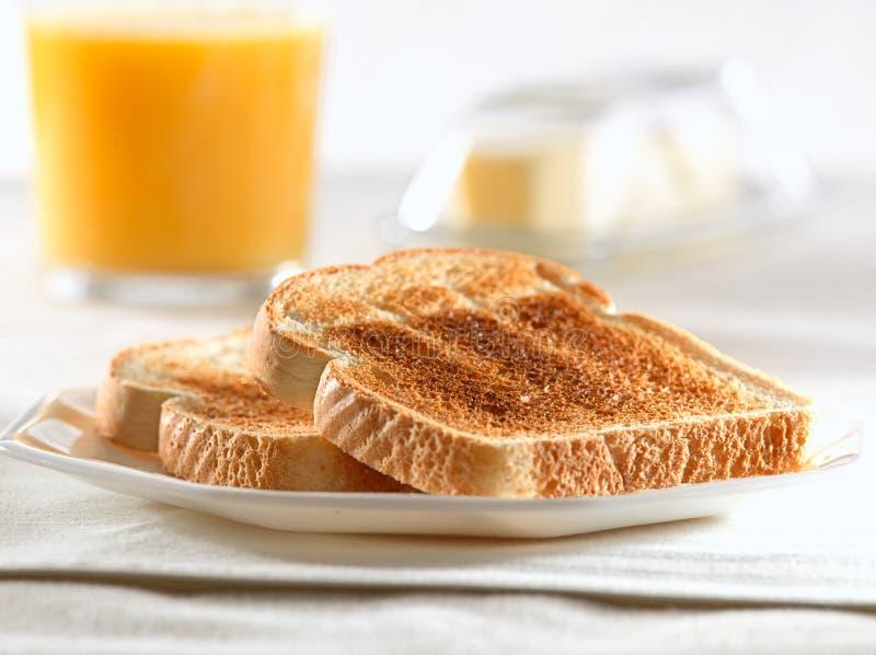 Stos grzanka dla śniadania fotografia stock