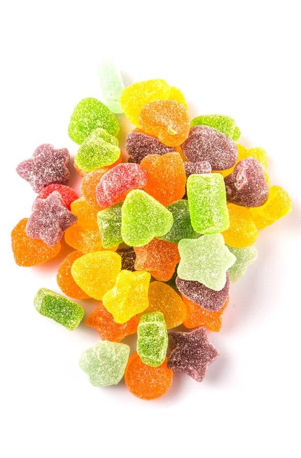 Stos Kolorowy cukier galarety cukierek II zdjęcie royalty free