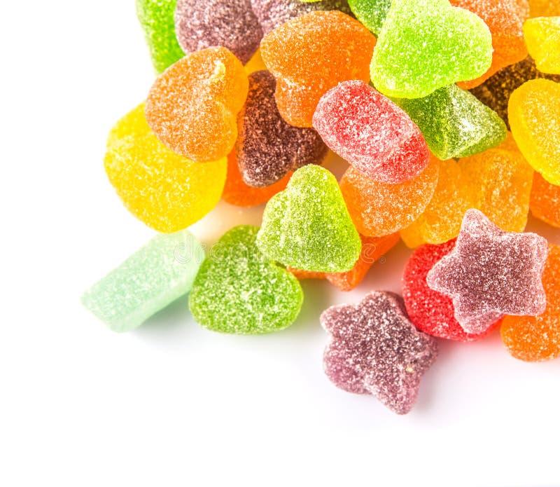 Stos Kolorowy cukier galarety cukierek IX zdjęcia royalty free