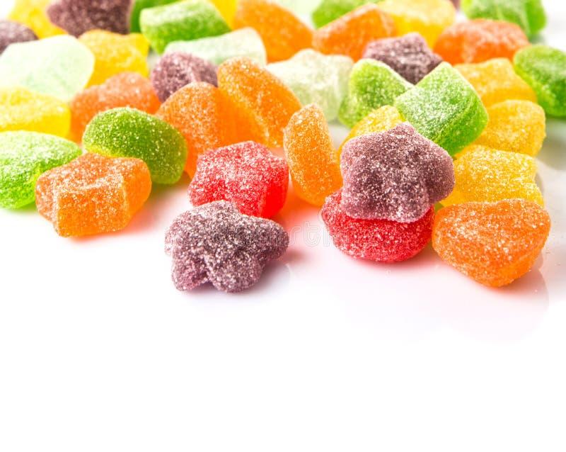 Stos Kolorowy cukier galarety cukierek XII obraz stock