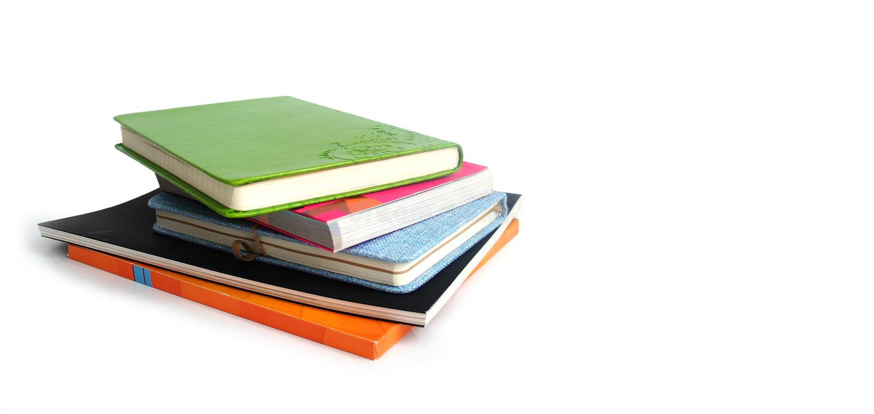 Stos książki i notatniki obrazy stock