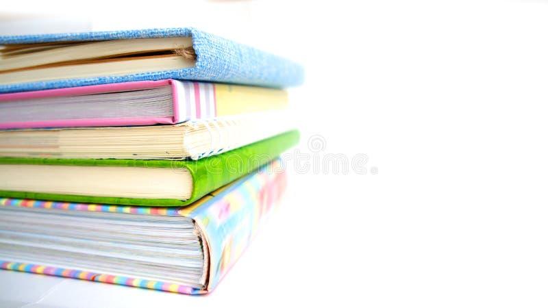 Stos książki i notatniki obraz stock