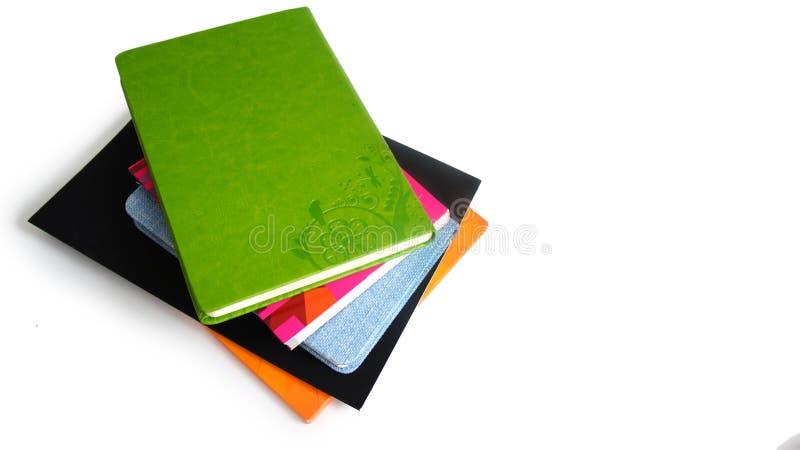 Stos książki i notatniki fotografia stock