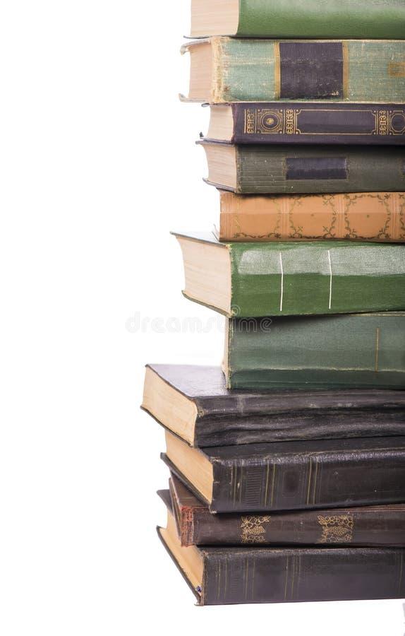 Stos książki odizolowywać zdjęcia royalty free