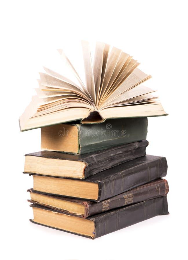 Stos książki odizolowywać zdjęcie stock