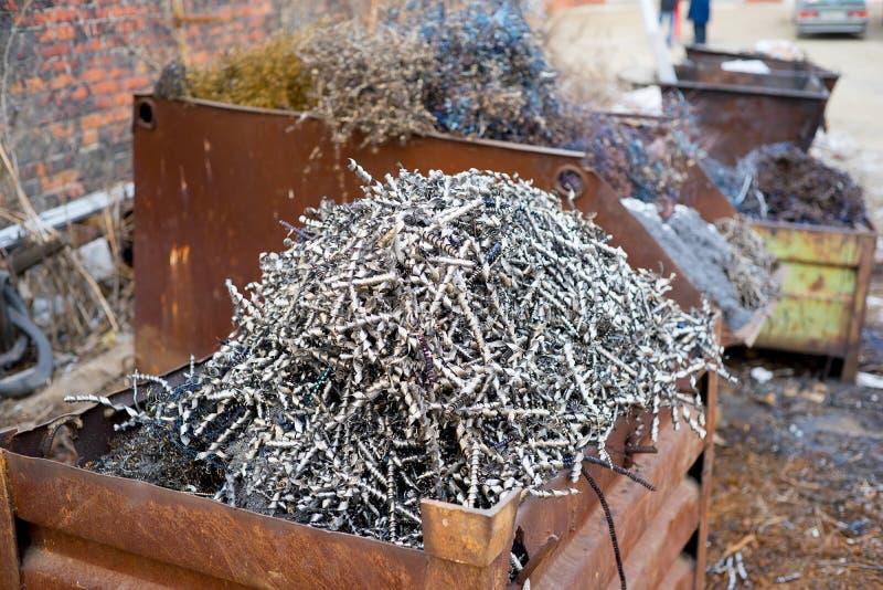 Stos metali układy scaleni obraz stock