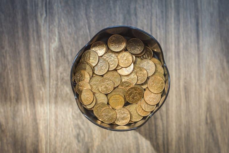 Stos miedziane monety obrazy stock
