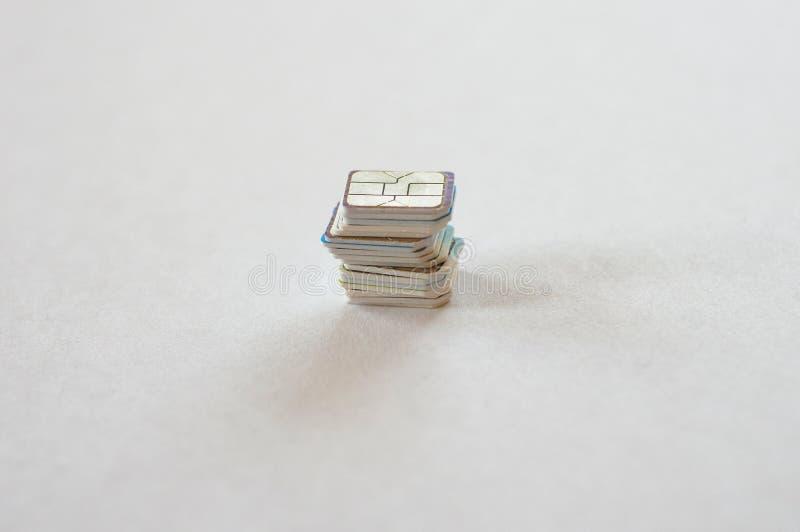 Stos nano sim karty wybierać obrazy royalty free