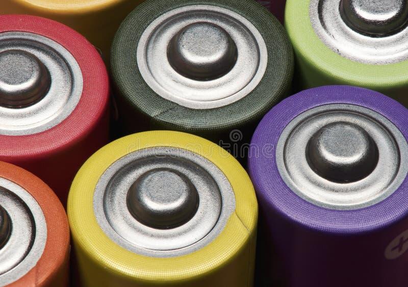 stos nowe AA alkaliczne baterie zdjęcie stock