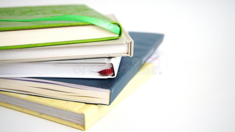 Stos od cztery książek obrazy stock
