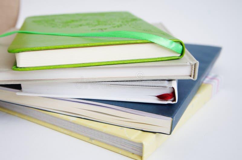 Stos od cztery książek zdjęcia stock