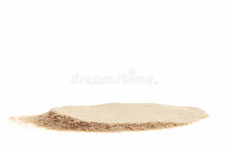 Stos odizolowywający na białym tle dla lata desig biały piasek obrazy stock