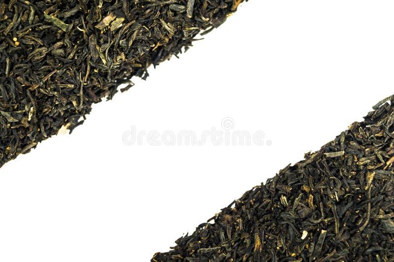 Stos odizolowywający na białym tle herbata zdjęcia stock
