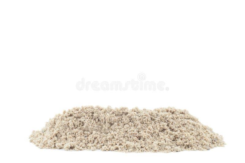 Stos odizolowywający na białym tle piasek obrazy stock