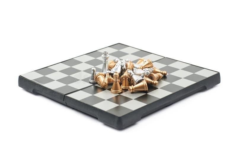 Stos szachy postacie na desce ilustracja wektor