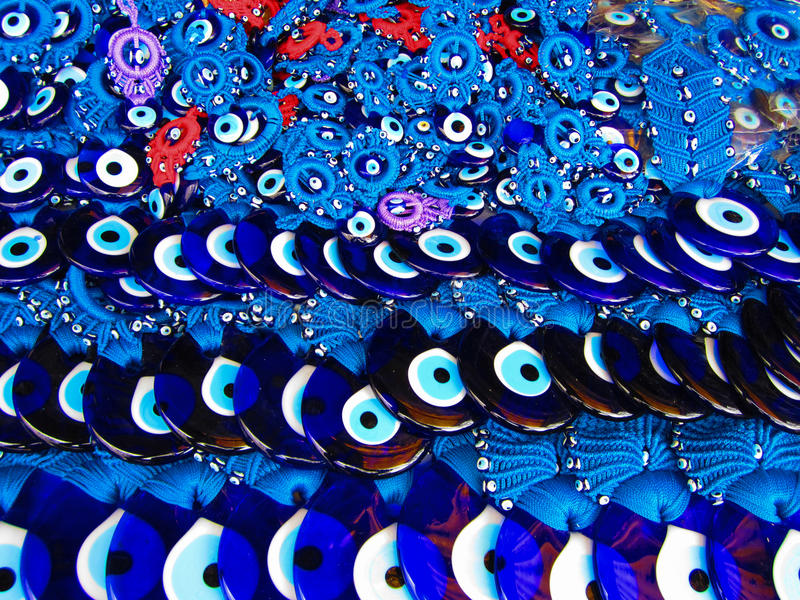 Stos Szklany Złego oka amulet zdjęcia royalty free