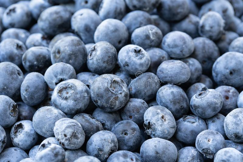 Stos zmrok - błękitne czarne jagody obraz stock