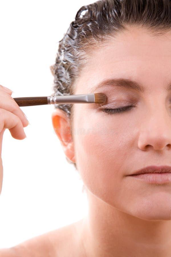 stosowanie eyeshadow zdjęcie stock