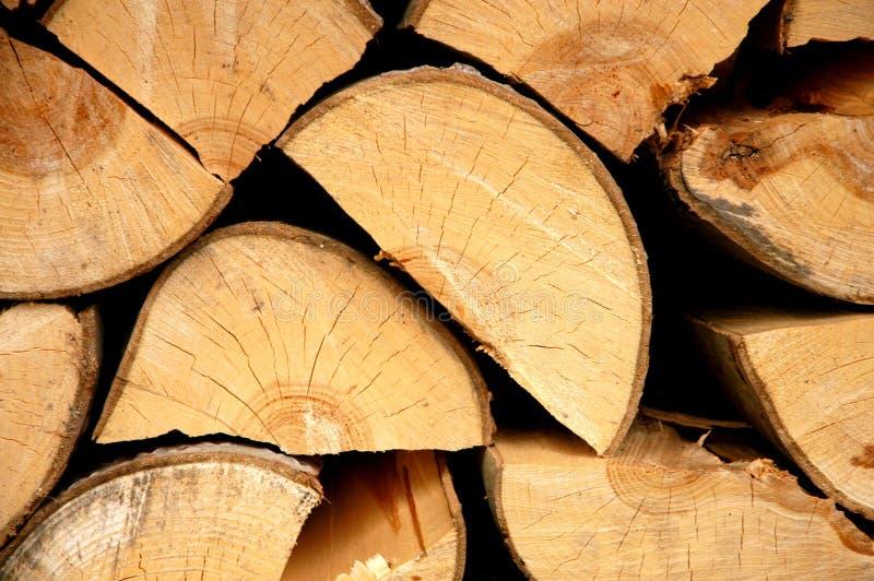 stosy pożarowe drewna obraz stock