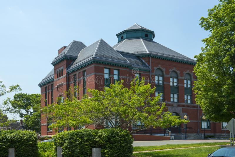 Stoughton城镇厅,马萨诸塞,美国 库存图片